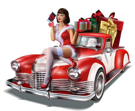 81781833-kerstmis-pin-up-meisje-met-cadeau-doos-in-de-handen-tijdens-het-zitten-op-de-retro-auto-