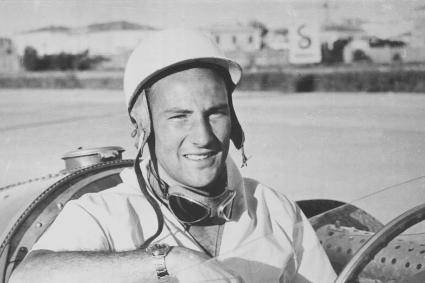 Stirling Moss tests a Maserati 250F (photo: Maserati SpA)